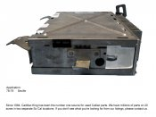 1978 CADILLAC SEVILLE ENGINE CONTROL MODULE
